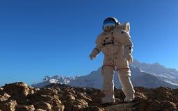 De astronaut Royalty-vrije Stock Afbeeldingen