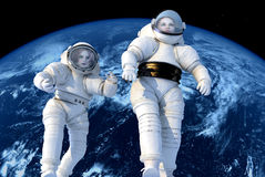 De astronauten Stock Foto