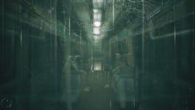 De astronauten gaan in de trein werken de samenvatting voorzag kosmische fantasie van een lus royalty-vrije illustratie