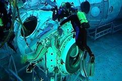 De astronauten kunnen niet zwemmen stock foto