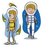 De astronauten van het beeldverhaal Stock Foto's
