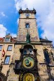 De astronomische klok Stock Foto