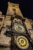 De Astronomische Klok van Praag stock afbeeldingen