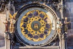 De Astronomische Klok van Praag Stock Foto's