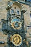 De Astronomische Klok van Praag Stock Afbeelding