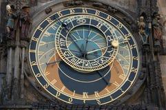 De astronomische klok van Praag \ 's Stock Afbeeldingen