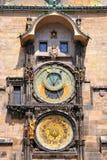 De Astronomische Klok van Praag, Tsjechische Republiek Royalty-vrije Stock Afbeelding