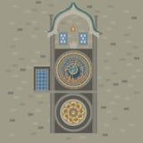 De Astronomische Klok van Praag Tsjechische Republiek Oud stadsvierkant in Europese stad De beroemde, populaire toeristenreis, ve Stock Fotografie