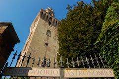 De astronomische Toren van Waarnemingscentrumla Specola Stock Foto