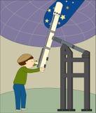 De Astronoom vector illustratie