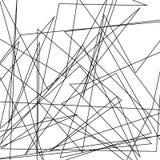 De asymmetrische textuur met willekeurige chaotische lijnen, vat geometrisch patroon samen Abstract Web, een verward netwerk Vect Stock Foto's
