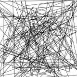 De asymmetrische textuur met willekeurige chaotische lijnen, vat geometrisch patroon samen Abstract Web, een verward netwerk Vect Royalty-vrije Stock Afbeelding