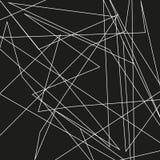 De asymmetrische textuur met willekeurige chaotische lijnen, vat geometrisch patroon samen Abstract Web, een verward netwerk Vect Royalty-vrije Stock Fotografie
