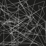 De asymmetrische textuur met willekeurige chaotische lijnen, vat geometrisch patroon samen Abstract Web, een verward netwerk Vect Stock Foto