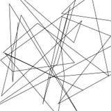 De asymmetrische textuur met willekeurige chaotische lijnen, vat geometrisch patroon samen Abstract Web, een verward netwerk Vect Stock Afbeelding