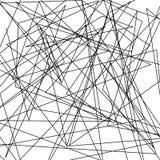 De asymmetrische textuur met willekeurige chaotische lijnen, vat geometrisch patroon samen Abstract Web, een verward netwerk Vect Stock Afbeeldingen