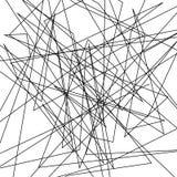 De asymmetrische textuur met willekeurige chaotische lijnen, vat geometrisch patroon samen Abstract Web, een verward netwerk Vect Royalty-vrije Stock Foto's