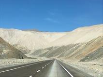 In de Atacama-Woestijn in Chili royalty-vrije stock afbeelding