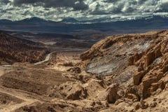 De Atacamawoestijn en Andes stock afbeelding