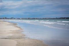 De Atlantische Oceaan, in Hampton Beach, New Hampshire Royalty-vrije Stock Foto