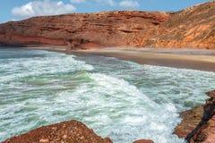 De Atlantische Oceaan in Marokko Royalty-vrije Stock Foto