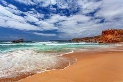 De Atlantische Oceaan - Sagres Algarve Portugal stock fotografie