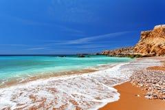 De Atlantische Oceaan - Sagres, Portugal Stock Foto