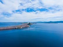 De Atlantische Weg in Noorwegen stock foto