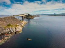 De Atlantische Weg in Noorwegen stock fotografie
