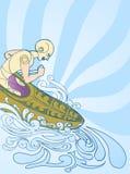 De atleet van de kano Stock Foto