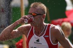 De atleet van de marathon Stock Foto's