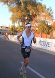De Atleet van het Ironmantriatlon: Marathon Royalty-vrije Stock Foto