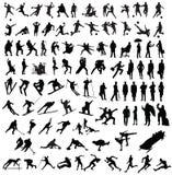De atleet van mensensporten Stock Afbeeldingen