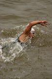 De atleet van Triathlon stock foto