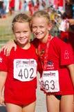 De atleten van meisjes het stellen Royalty-vrije Stock Foto