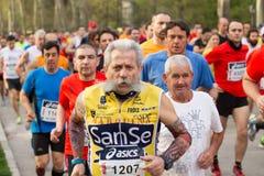 De atleten van oudsten van halve marathon Stock Foto
