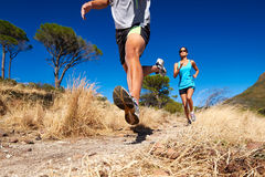 De opleiding van de marathon Stock Foto