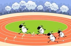 De atletiek van schapen Stock Afbeeldingen