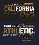 De atletiek van typografiela Californië, t-shirt grafische vector vector illustratie