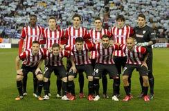 De atletische opstelling van DE Bilbao Stock Foto