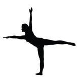 De atletische vrouwen silhouetteren Stock Afbeelding