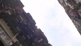 De atmosfeer van dicht bevolkte woonvlakten in Taiwan stock footage