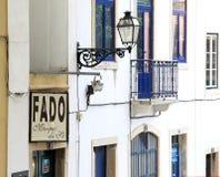 De atmosfeer van Fado, downton in Lissabon, Portugal stock foto