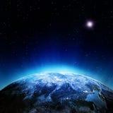 De atmosfeer van wolken van ruimte vector illustratie