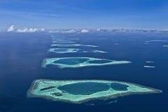 De Atollen van de Maldiven stock afbeeldingen