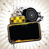 De attributen van de taxi Stock Foto