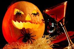 De attributen van Halloween royalty-vrije stock afbeelding