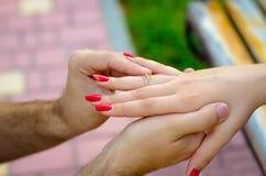 De attributen van het huwelijk Royalty-vrije Stock Foto's