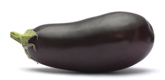 De aubergine van de versheid Stock Foto's