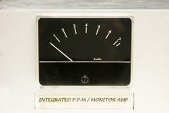 De audio Meter van het Niveau royalty-vrije stock foto